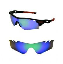 NEW POLARIZED VENTED GREEN CUSTOM LENS FOR OAKLEY RADARLOCK SUNGLASSES